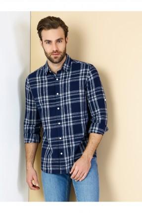قميص رجالي كاجوال بخطوط و مربعات
