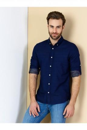 قميص رجالي مودرن كم طويل