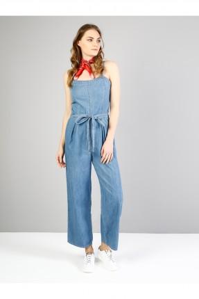 افرول نسائي جينز مع حزام للخصر