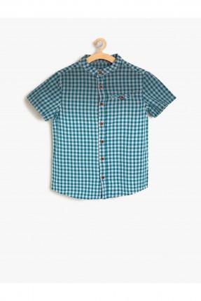 قميص اطفال ولادي كارو بياقة صينية