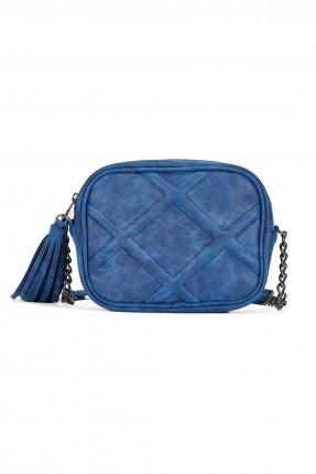 حقيبة يد نسائية مع شراشيب - ازرق داكن