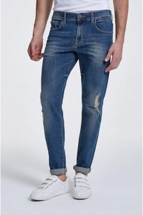 بنطال رجالي جينز مع شقوق