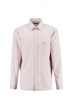 قميص رجالي كلاسيكي مع جيب