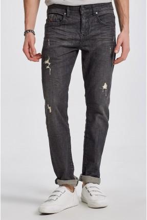 بنطال جينز رجالي مع شقوق