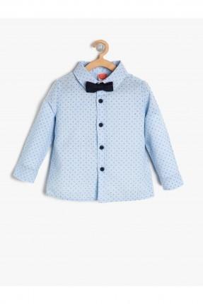 قميص بيبي ولادي منقط - ازرق