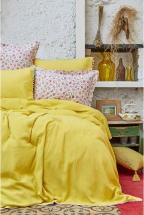 طقم غطاء سرير مزدوج - اصفر