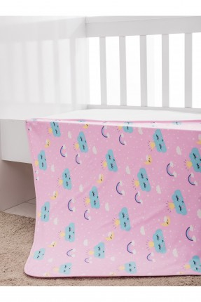 بطانية سرير بيبي بناتي مع رسومات