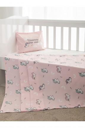 طقم بطانية سرير بيبي مع رسومات