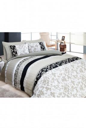 طقم لحاف سرير مفرد - مخطط