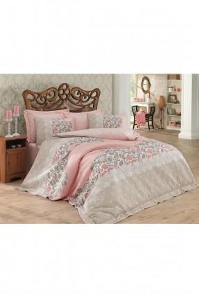 طقم لحاف سرير مزدوج - زخرفة نباتية