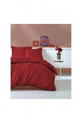 طقم غطاء سرير مزدوج - مخطط