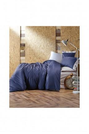 طقم غطاء سرير فردي - ازرق داكن