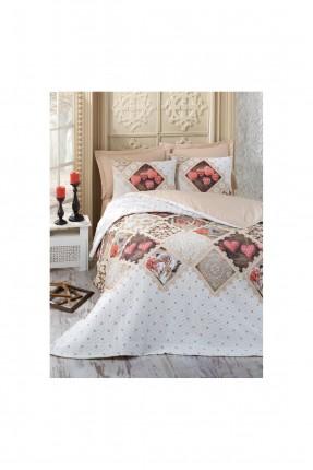 طقم لحاف سرير مفرد مع رسمة