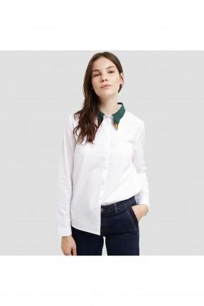 قميص نسائي ياقة بتطريز ناعم