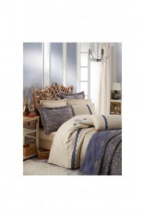 طقم غطاء سرير عرائسي مزخرف - ازرق داكن