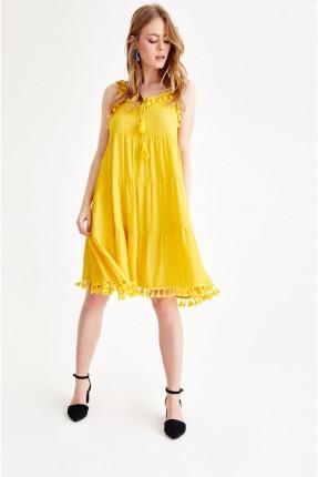 فستان سبور قصير مع شراشيب
