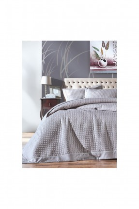 طقم غطاء سرير عرائسي - رمادي
