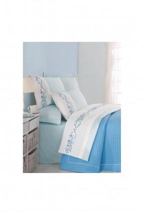 طقم غطاء سرير عرائسي - منقش
