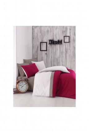 طقم غطاء سرير مفرد - احمر قاتم