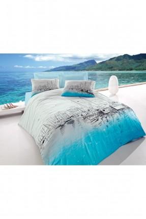 طقم غطاء سرير مفرد مع رسمة