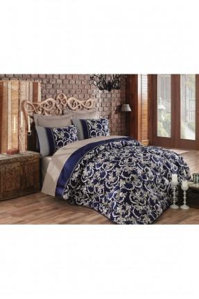 طقم لحاف سرير مزدوج - ازرق قاتم
