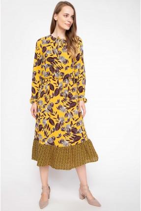 فستان سبور مزخرف - اصفر