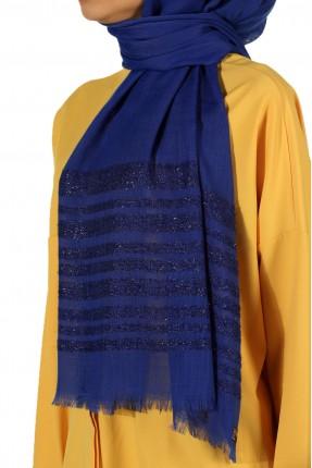 حجاب كاجوال بخطوط لامعة