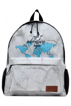 حقيبة ظهر سحاب بخريطة العالم
