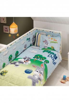 طقم لحاف سرير بيبي - باجز باني