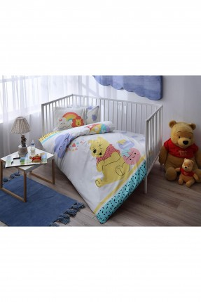 طقم غطاء سرير بيبي ولادي مع رسمة