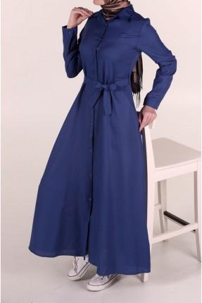فستان سبور بحزام للمحجبات