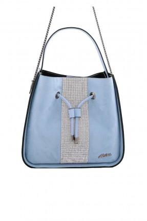حقيبة يد نسائية جلد اصطناعي - ازرق