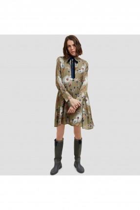 فستان سبور مع ربطة للياقة