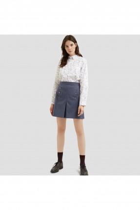 تنورة قصيرة كاجوال مع جيب