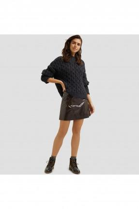 تنورة قصيرة جلد كاجوال