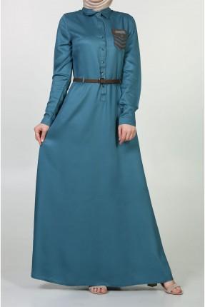 فستان سبور مع جيب للمحجبات