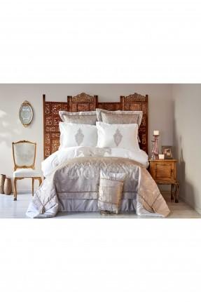 طقم غطاء سرير مزدوج مزخرف - دانتيل