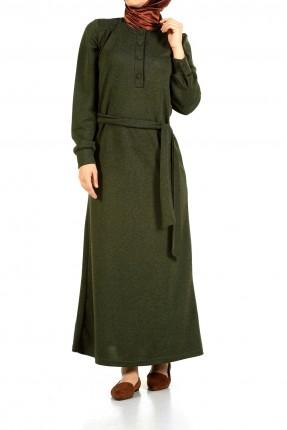 فستان سبور مع حزام للمحجبات