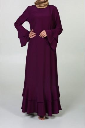 فستان رسمي انيق مع كشكش