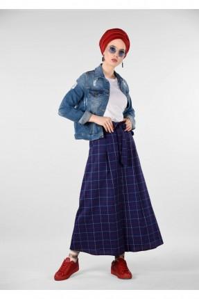 تنورة طويلة سبور كارو - ازرق داكن