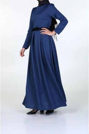 فستان رسمي طويل مع حزام
