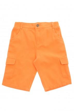 شورت اطفال ولادي - برتقالي