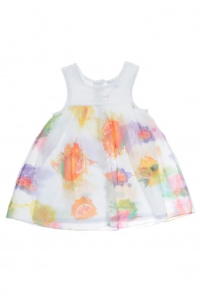 فستان بيبي بناتي مع رسمة فواكه