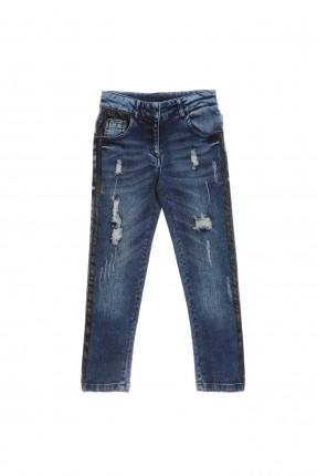 بنطال جينز اطفال بناتي - ازرق داكن