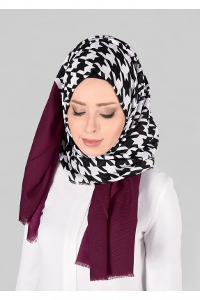 حجاب تركي منقشة