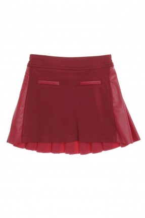 تنورة اطفال بناتي - احمر داكن