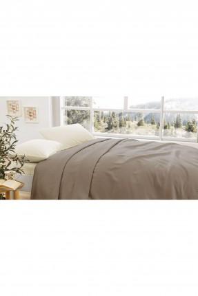 بطانية سرير مزدوج - بني