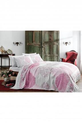 طقم بطانية سرير فردي - وردي
