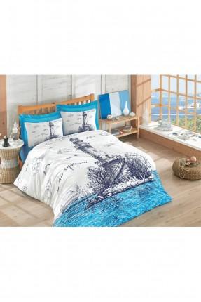 طقم غطاء سرير مزدوج - رسمة منارة