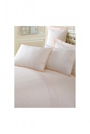 طقم غطاء سرير مزدوج منقش